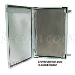 24x16x9-inch-weatherproof-nema-4x-enclosure-w-back-and-front-mounting-plate L-Com Enclosure