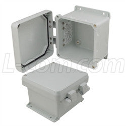 6x6x4-inch-ul-listed-weatherproof-industrial-nema-4x-enclosure-only-with-non-metallic-hinges L-Com Enclosure