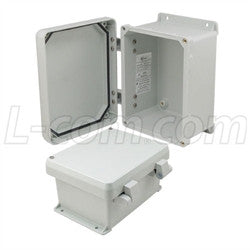 8x6x4-inch-ul-listed-weatherproof-industrial-nema-4x-enclosure-only-with-non-metallic-hinges L-Com Enclosure