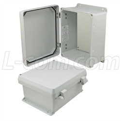 10x8x5-inch-ul-listed-weatherproof-nema-4x-enclosure-non-metal-mounting-plate-non-metallic-hinges L-Com Enclosure