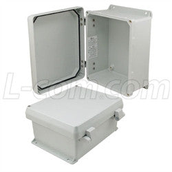 10x8x5-inch-ul-listed-weatherproof-industrial-nema-4x-enclosure-only-with-non-metallic-hinges L-Com Enclosure