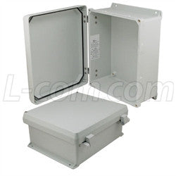 12x10x5-inch-ul-listed-weatherproof-industrial-nema-4x-enclosure-only-with-non-metallic-hinges L-Com Enclosure