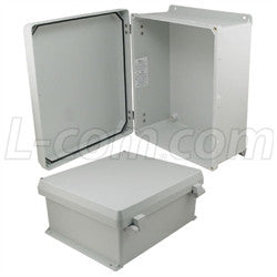 14x12x6-inch-ul-listed-weatherproof-industrial-nema-4x-enclosure-only-with-non-metallic-hinges L-Com Enclosure