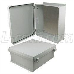 16x14x6-inch-ul-listed-weatherproof-nema-4x-enclosure-w-aluminum-mount-plate-non-metallic-hinges L-Com Enclosure