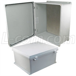 18x16x8-inch-ul-listed-weatherproof-nema-4x-enclosure-w-aluminum-mount-plate-non-metallic-hinges L-Com Enclosure