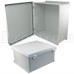 18x16x8-inch-ul-listed-weatherproof-industrial-nema-4x-enclosure-only-with-non-metallic-hinges L-Com Enclosure