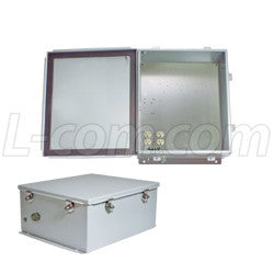 14x12x6-inch-120-vac-steel-weatherproof-enclosure-with-heating-system L-Com Enclosure