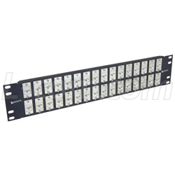 "3.50"" 32 Port ECF Flange Mounted Category 6 Feed-Thru Panel, Shielded Low Profile Mini-Coupler"