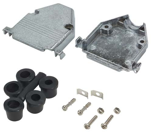 Assembled D-Sub Hood Kit, DB25/HD44 Metal
