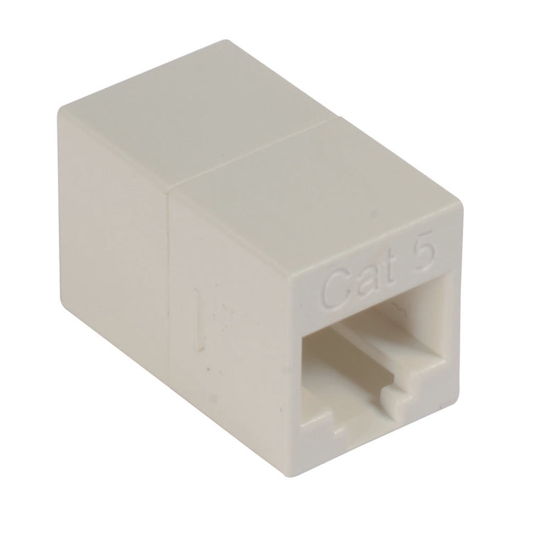 Cat5e Mini Coupler - Unshielded RJ45 (8x8) In-line Feed-thru