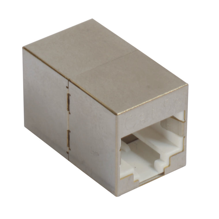 Cat5e Mini Coupler - Shielded RJ45 (8x8) In-line Feed-thru