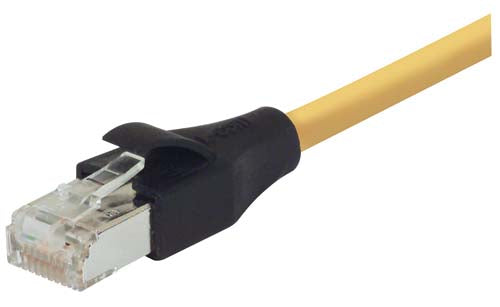 Shielded Cat 5e EIA568 Patch Cable, RJ45 / RJ45, Yellow 80.0 ft