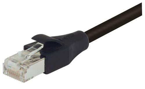 Cable industrial-grade-category-5e-double-shielded-lszh-patch-cord-black-30-ft