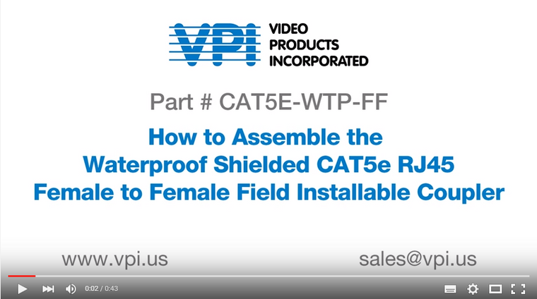 How to Assemble a Waterproof Shielded RJ45 Coupler - VPI Video