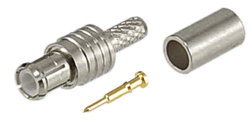 AMM-1102  Connector, MCX Male STR CRIMP LMR100