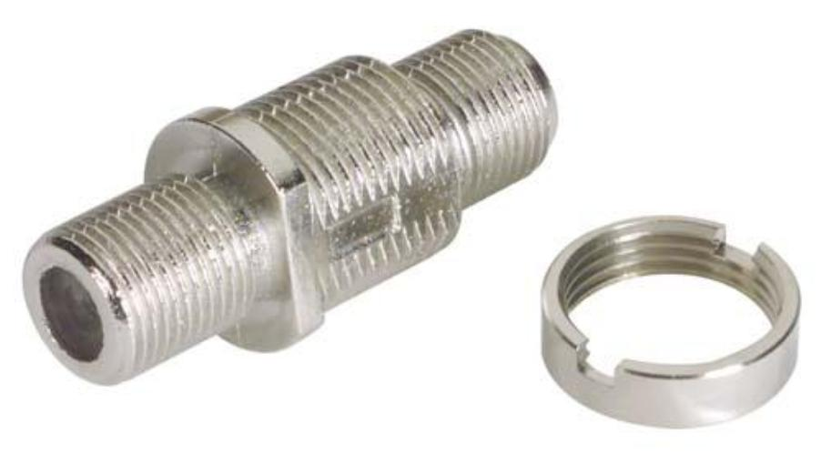 ATERM-FF  Type F Auto-Terminating (Female/Female) Adapter, 75 Ohm