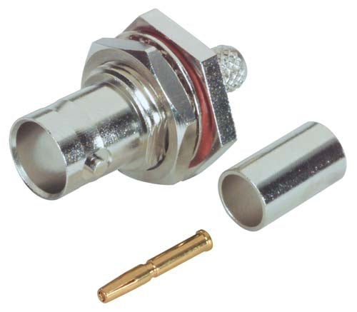 75 Ohm BNC Female Bulkhead Connector for RG59 Cable