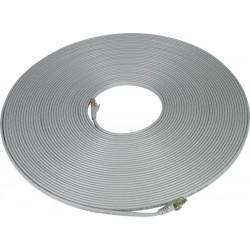 CAT7-FLT-50-GRAY   -   CAT7 Flat Stranded Shielded Cable Ethernet Ribbon Patch Cord 50 ft RJ45 - RJ45 Gray