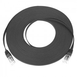 CAT5E-SF-25-BLACK   -   CAT5e Super Flat Stranded Unshielded Cable Ribbon Ethernet 25 ft RJ45 - RJ45 Black
