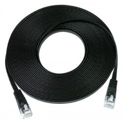 CAT6-SF-25-BLACK   -   CAT6 Super Flat Stranded Unshielded Cable Ribbon Ethernet 25 ft RJ45 - RJ45 Black