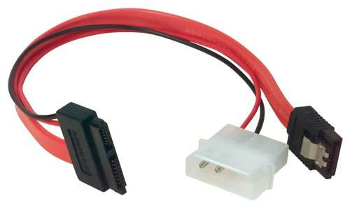 Cable slimline-sata-cable-assembly-w-power-+data-connectors-8