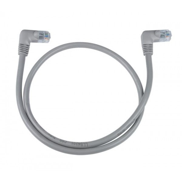 CAT5E-RA-2-GRAY  CAT5e Right Angle to Right Angle Patch Cords Gray 2ft