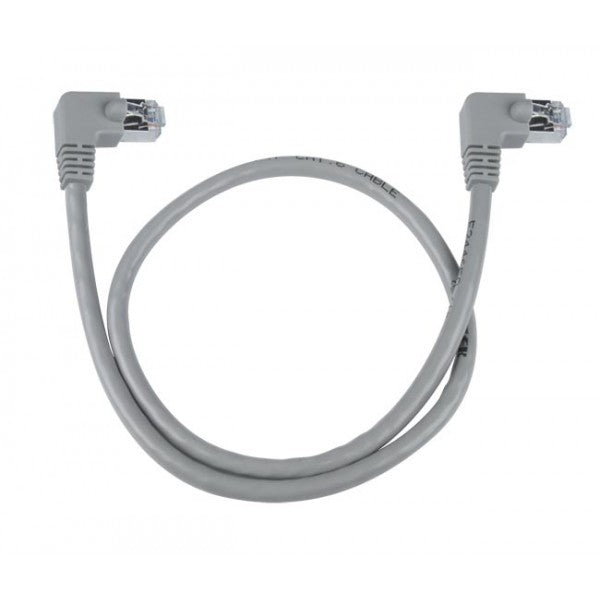 CAT6-RA-15-GRAY-SHLD  CAT6 Right Angle to Right Angle Shielded Patch Cords