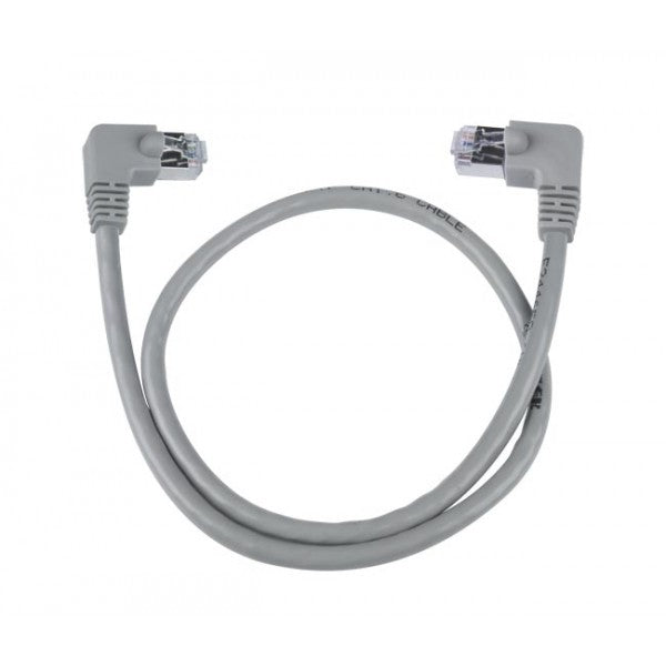 CAT6-RLA-3-GRAY-SHLD  CAT6 Right Angle to Left Angle Shielded Patch Cords 3 ft