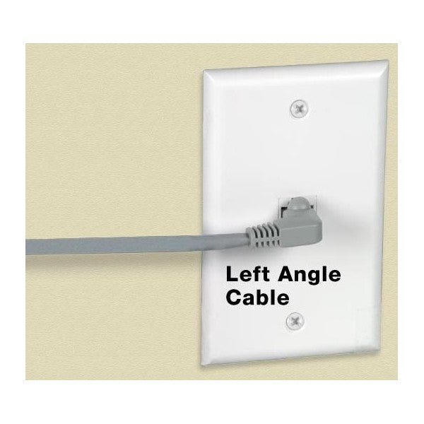 CAT6 Right Angle to Left Angle Shielded Patch Cords 9ft