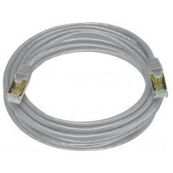 CAT7-10-GRAY   -   CAT7 Cable Shielded Ethernet Network Stranded Patch Cord 10 ft RJ45 - RJ45 Gray
