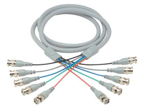 Cable deluxe-rgb-multi-coaxial-cable-5-bnc-male-male-75-ft