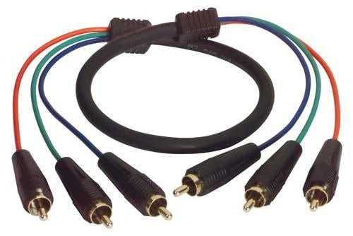 Cable 3-line-rgb-component-rca-cable-male-male-250-ft