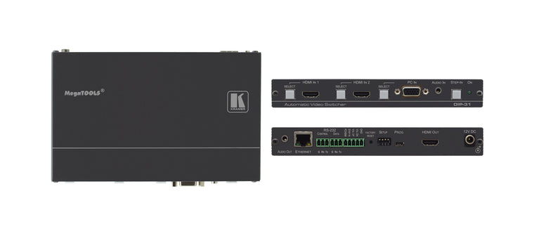 DIP-31 4K60 4:2:0 HDMI & VGA Auto Switcher with Maestro Room Automation