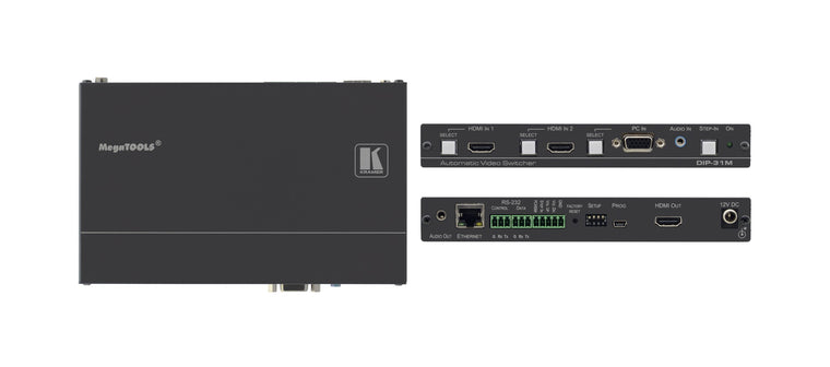 DIP-31M  4K60 4:2:0 HDMI & VGA Auto Switcher with Maestro Room Automation