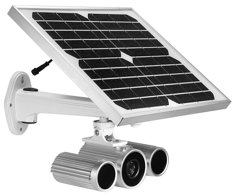 Solar-Powered High-Definition Wireless/Wired Day/Night Outdoor IP Camera