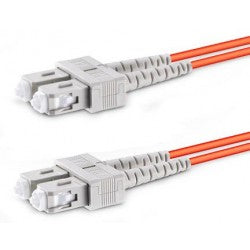 FIBER-D-SCSC-50-10M   -   Duplex SC Multimode Fiber Optic Patch Cable Ferrules 50-Micron 10 m SC - SC Orange