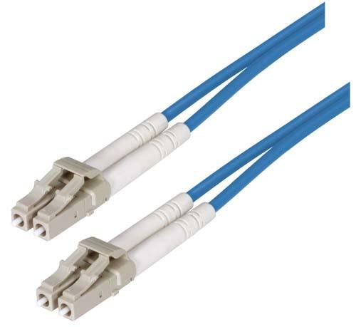 Cable om2-50-125-multimode-fiber-cable-dual-lc-dual-lc-blue-150m