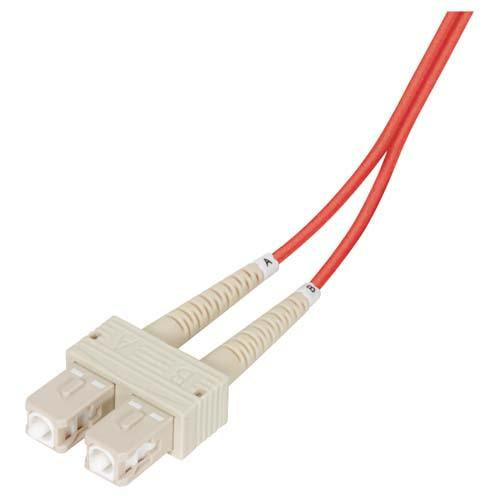 Cable om2-50-125-multimode-fiber-cable-dual-sc-dual-sc-red-10m