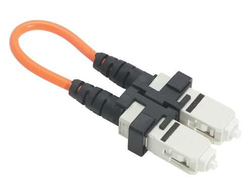Cable fiber-loopback-with-sc-connectors-50-125