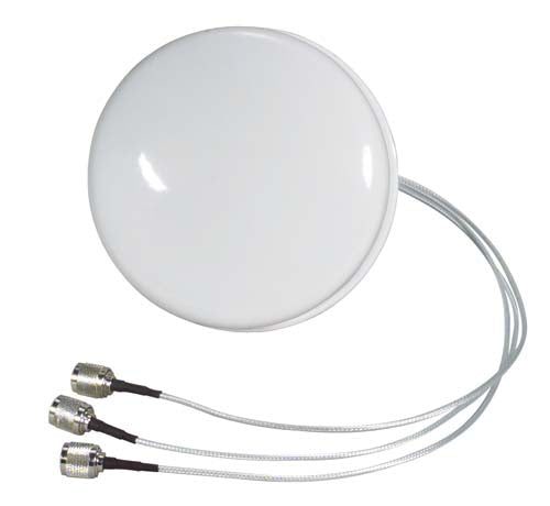 HG2403-SDC-3RTP  2.4 GHz 3 dBi Spatial Diversity MIMO/802.11n Ceiling Antenna - 18in RP-TNC Plug