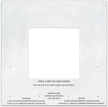 70-1049-80 - Cable Cubby Routing Template