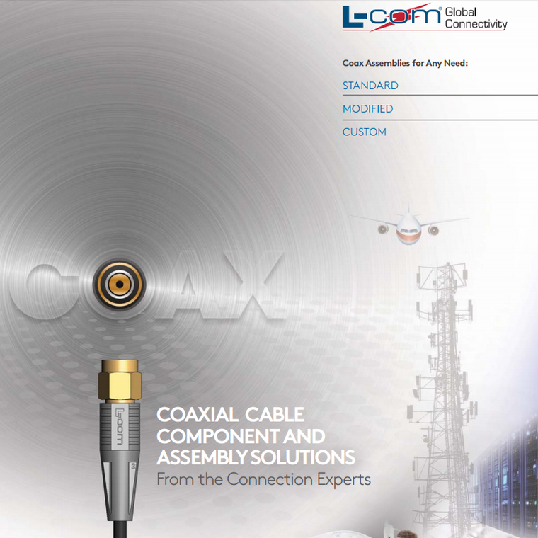 L-Com Coaxial Cable and Component Solutions PDF