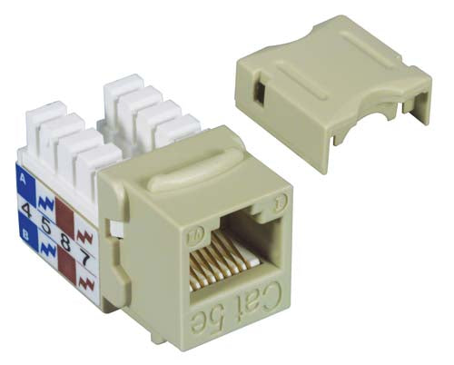 Category 5E Keystone Jack 110/RJ45 EIA568A/B Ivory