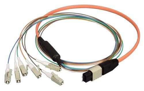 Cable mpo-male-lc-6-fiber-ribbon-fanout-625-multimode-with-ofnr-jacket-10m
