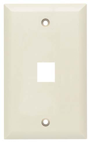 Flush Wall Plate for 1 Keystone Ivory