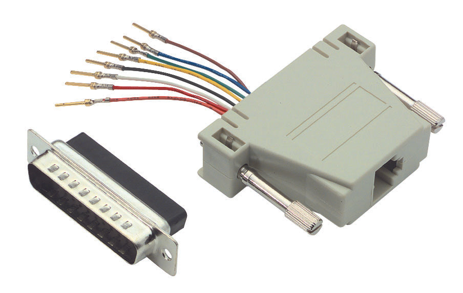 RA258M  Modular Adapter, DB25 Male / RJ45 (8x8) Jack