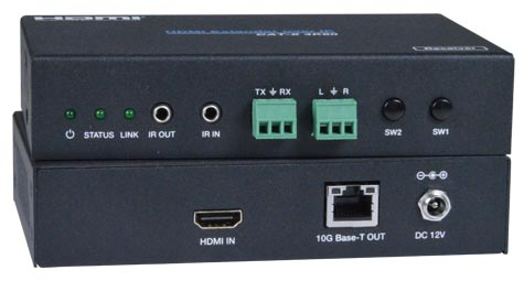 4K 18Gbps HDMI Extender Over IP with IR and RS232 Local