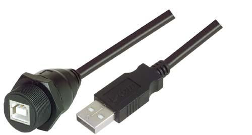 Cable usb-cable-waterproof-type-b-female-standard-type-a-male-10m