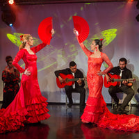 Flamenco Show - Barcelona - two female dancers in red dresses
