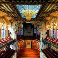 Inside view from Palau de la Musica - Barcelona